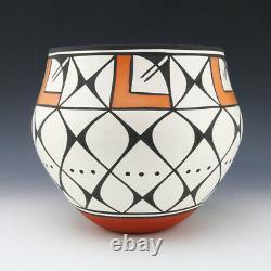 Native American Acoma Pottery Olla By David Antonio