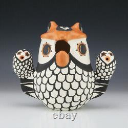 Native American Acoma Pottery Owl Storyteller By Mary Antonio