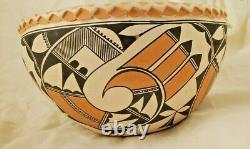 Native American Acoma Pottery Polychrome Bowl