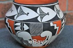 Native American Acoma Pueblo Pottery Polychrome Olla signed Tena Garcia