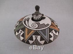 Native American Acoma Pueblo pottery Acoma Seed Pot with Turtle by Marilyn Ray