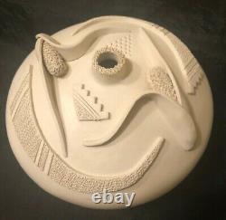 Native American Acoma White Seed Pot Wilfred Garcia
