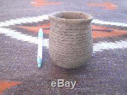 Native American Anasazi Pottery Corrugated Bowl MUSEUM QUALITY #2