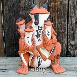 Native American Art-Jemez Pueblo Pottery-FROG STORYTELLER-Carol Lucero Gachupin