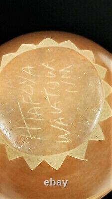 Native American Avanyu Serpent Sgraffito Santa Clara Pottery Vase H Tafoya