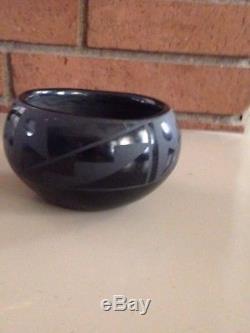 Native American Black Santa Clara Pueblo Pottery Flora Naranjo