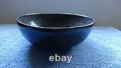 Native American Ceremonial Black Bowl by Renowned New Mexico Artist Khuu Khaayay
