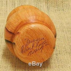 Native American Dwayne Blackhorse Handmade Wood Grain Finish Pottery Eagle Jar
