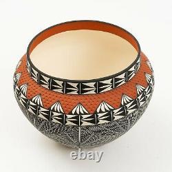 Native American, Extraordinary Vintage Acoma Polychrome Pottery Olla by CHINO
