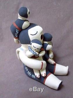 Native American Hand Coiled Jemez Pottery Storyteller by Yolanda Toya PO0155