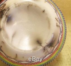 Native American Handmade Horsehair Pottery by Hilda Whitegoat Large Bear Vase