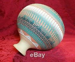 Native American Hilda Whitegoat Navajo Pottery Southwestern Clay Pot Signed 6