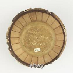 Native American Hopi Pottery Carved Seed Pot, Lawrence Namoki, Rainmaker