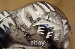 Native American Horse Hair Hand Etched Bear and Cub Pottery Sculpture Vail
