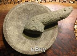 Native American Indian Coastal Stone Mortar And Pestle Certificate Authenticity
