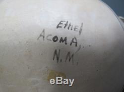 Native American Indian Pottery Duck Effigy Ethel Shields Acoma Pueblo Clan yqz