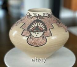 Native American Indian Pottery Jemez Walatowa Pueblo Signed BJ Fragua 6.5