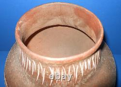 Native American Indian Sgraffito 9 Seed Pot Signed in script