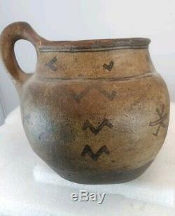 Native American Indian pottery Tesuque Pueblo New Mexico 19th century ANTIQUE