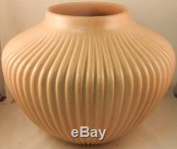 Native American Jemez Buff Straight Melon Vase by Laura Gachupin
