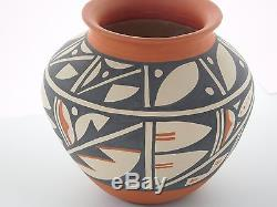 Native American Jemez Painted Hand Coiled Pottery By Elaina Tortilita