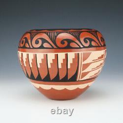 Native American Jemez Pottery Bowl By Carol Loretto