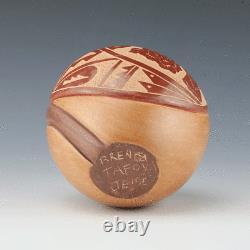 Native American Jemez Pottery Hummingbird Vase By Brenda Tafoya