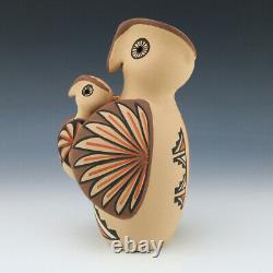 Native American Jemez Pottery Owl Storyteller By Chrislyn Fragua
