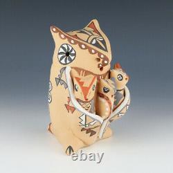 Native American Jemez Pottery Owl Storyteller By Emily Fragua Tsosie