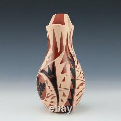 Native American Jemez Pottery Wedding Vase By Geraldine Sandia