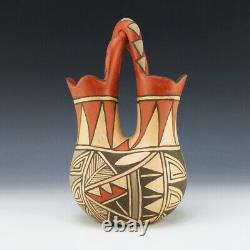 Native American Jemez Pottery Wedding Vase By Juanita Fragua
