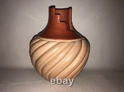 Native American Jemez Pottery vase Emma Yepa