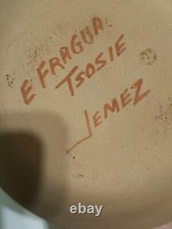 Native American Jemez Pueblo Storyteller Pottery signed Emily Fraqua Tsosie