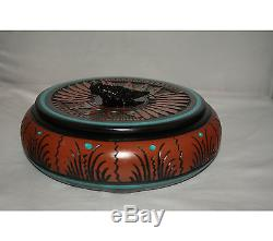 Native American Jewelry Box with Lizard by Dwayne and Heather Eskete, Navajo