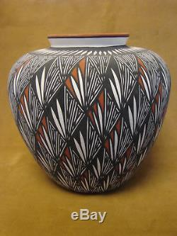Native American Laguna Fine Line Pot Hand Painted by Debra Waconda! Fine Line