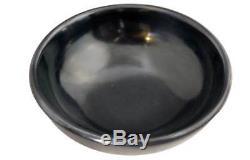 Native American MARIA (POVEKA) MONTOYA MARTINEZ San Ildefonso Black Pottery Bowl