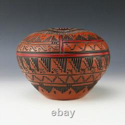Native American Navajo Bear Pottery Bowl By Arnold Brown
