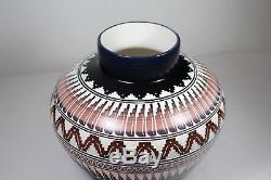 Native American Navajo Hand Etched and Painted Pottery