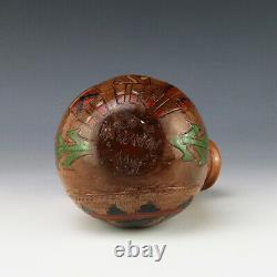 Native American Navajo Pottery Wedding Vase By Irene & Ken White