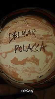Native American POTTERY Seed Pot by Delmar Polacca Hopi APPX. 5 T X 5 1/2 W
