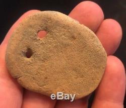 Native American Pendant/bannerstone, Pottery/steatite, Deer Effigy