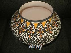 Native American Pottery Acoma Handmade Stunning Work Beautiful Large 14 Inch