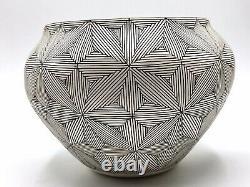 Native American Pottery Acoma Handmade Stunning Work Signed Beautiful