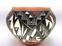 Native American Pottery Acoma Handmade Stunning Work Signed Beautiful