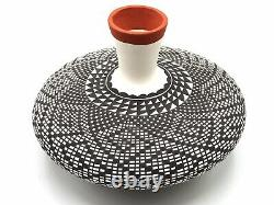 Native American Pottery Acoma Handmade Vase Stunning Work Signed Beautiful
