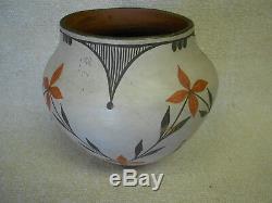 Native American Pottery Acoma Polychrome Pottery Vase Zia Pueblo Large Floral
