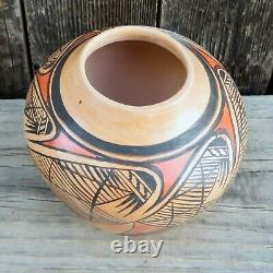 Native American Pottery-HOPI Hand Coiled Migration Pattern Pot-Adelle Nampeyo