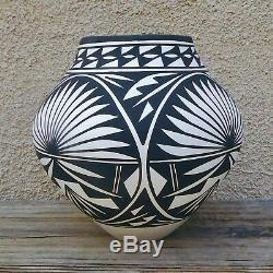 Native American Pottery-Handmade Acoma Pueblo Hand Coiled Pot-K. Victorino