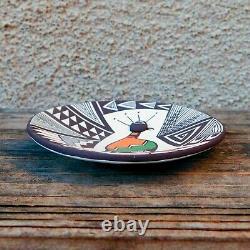 Native American Pottery-Handmade Acoma Pueblo Mimbres Quail Plate-Carolyn Concho