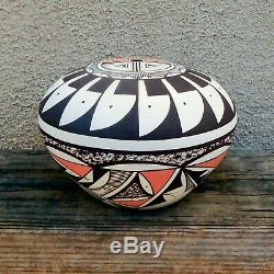 Native American Pottery-Handmade Navajo/Acoma SUNFACE SEED POT Westly Begay